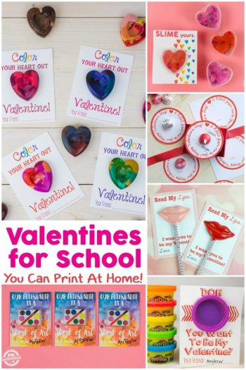 valentines for school to print at home