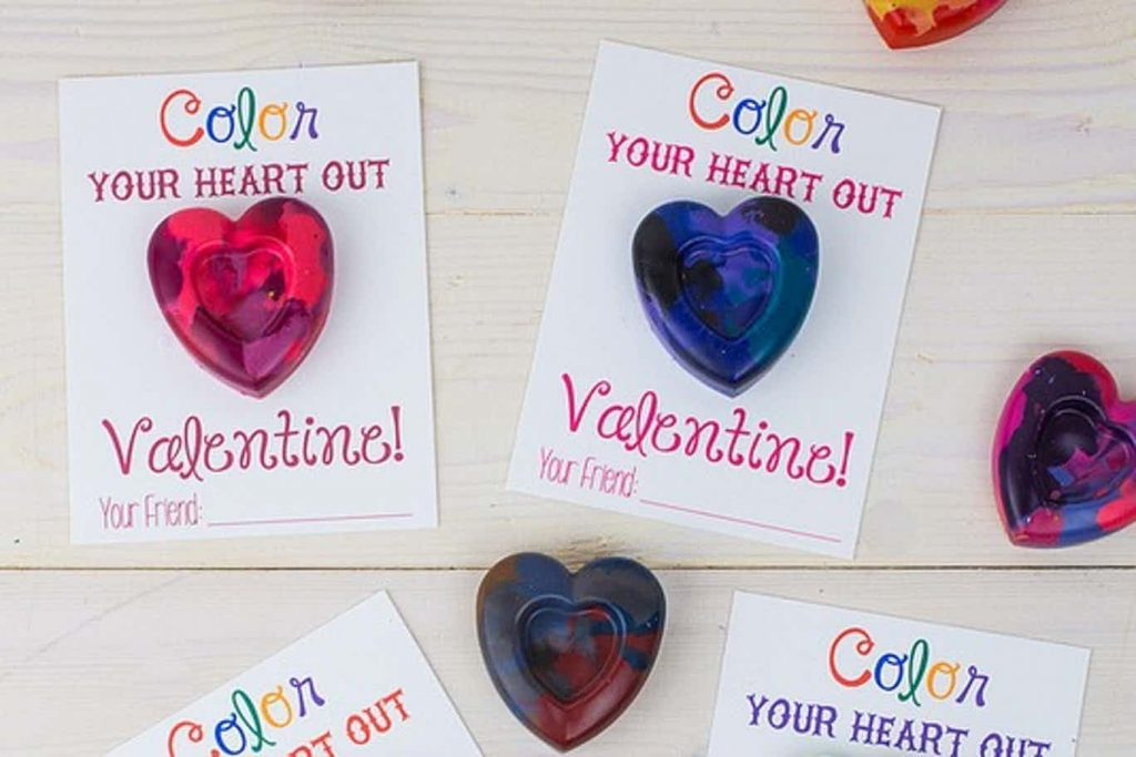 valentines for school to print - color your heart out