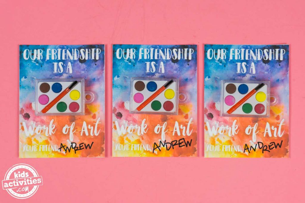 valentines for school to print - our friendship is a work of art
