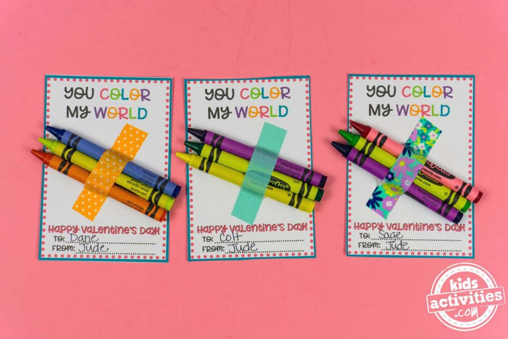 valentines for school to print - you color my world