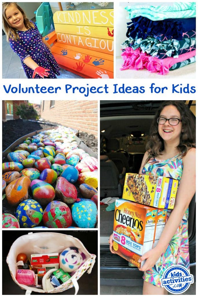 volunteer project ideas for kids