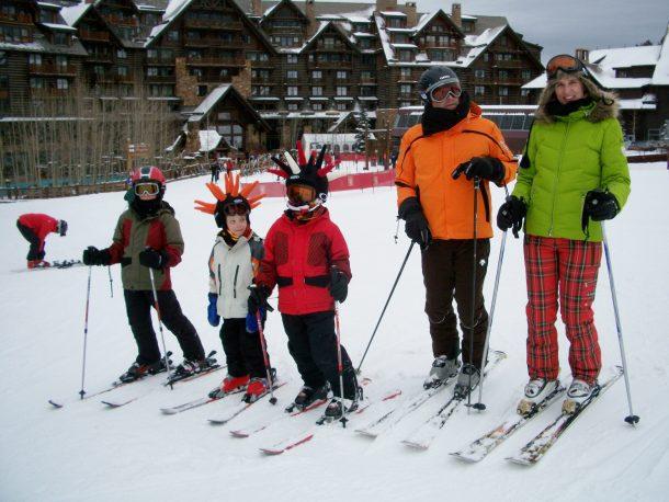 Homer family skiing 2012