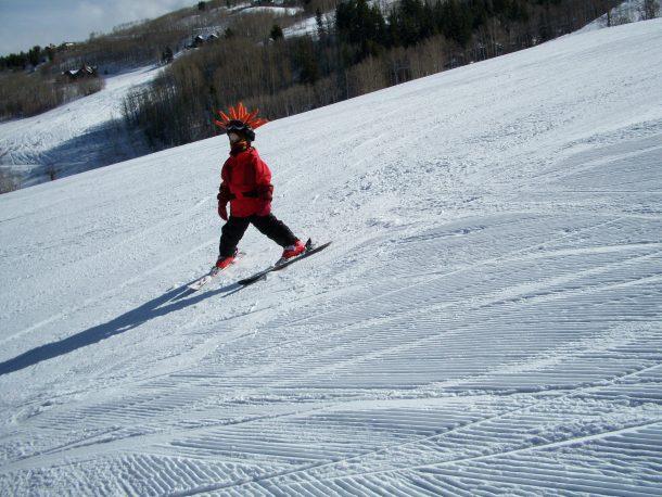 Reid skiing in Colorado