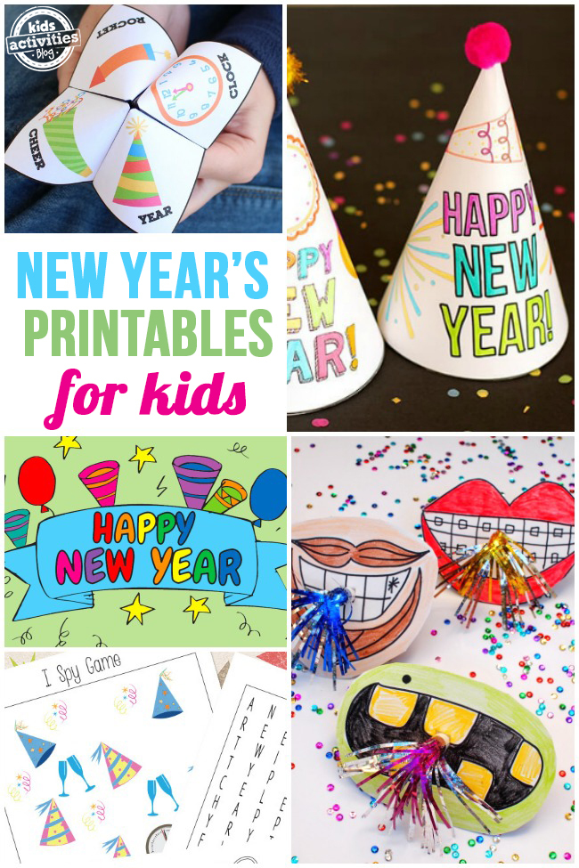 Free New Year's Printables for Kids
