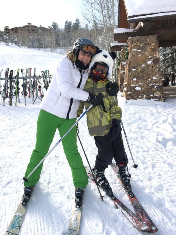 Holly and Reid skiing 2015