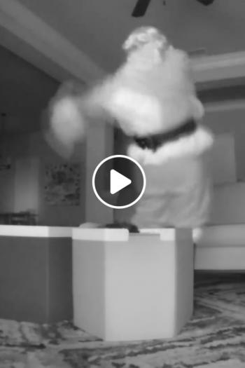 Santa Caught On Nest Cam 2018