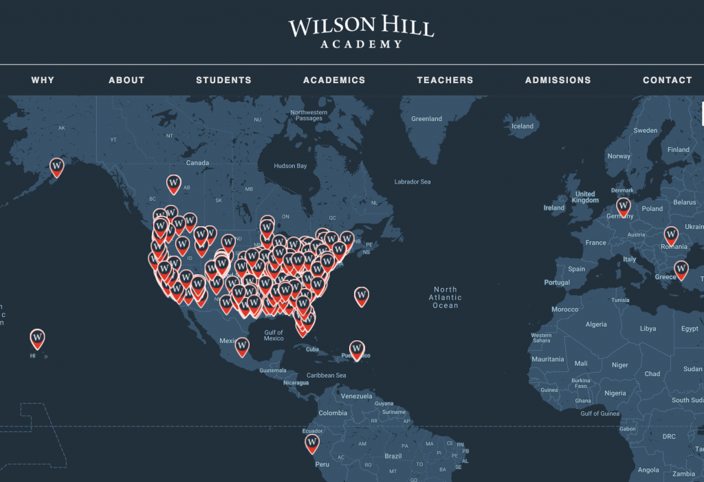 Wilson Hill Academy Student Life Map