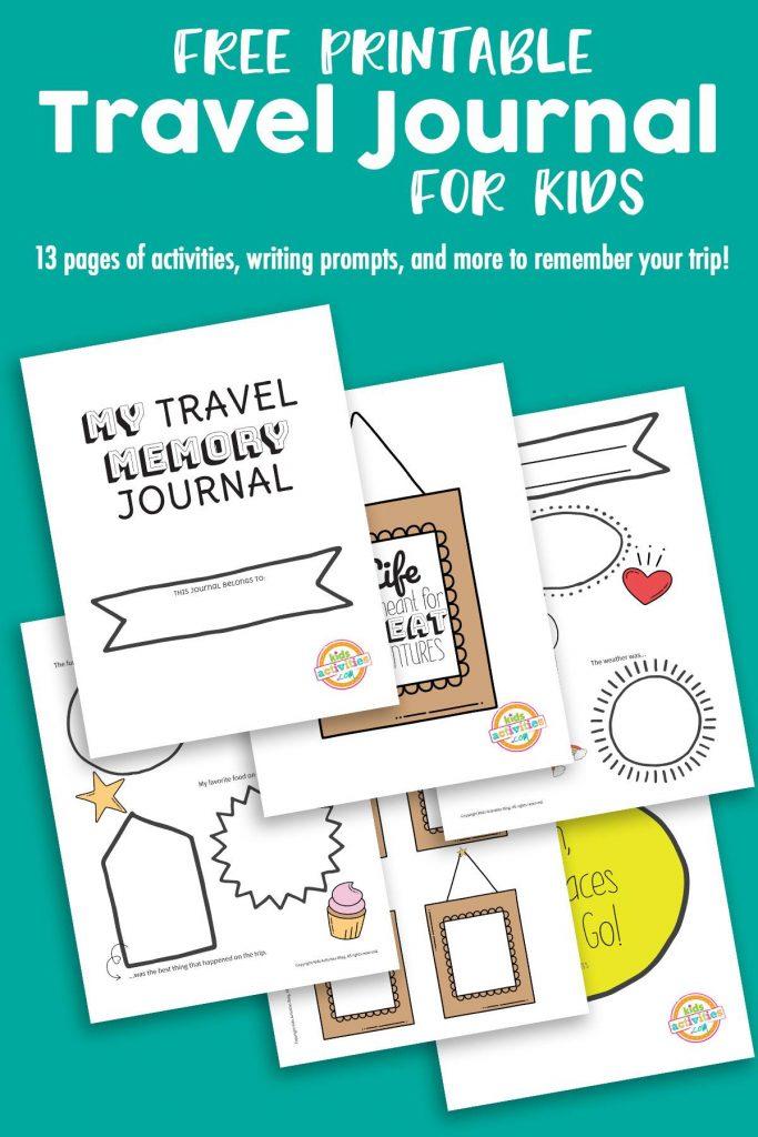 free travel memory journal - printable