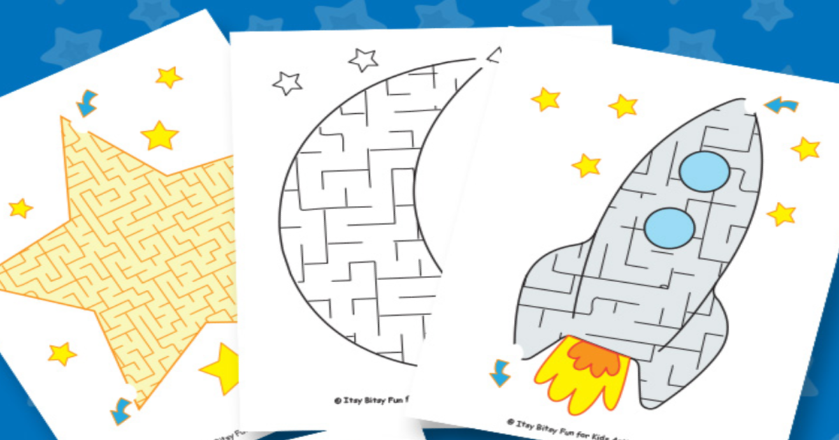 Fun Free Printable Space Mazes Worksheets For Kids Kids Activities Blog -  TechiAzi