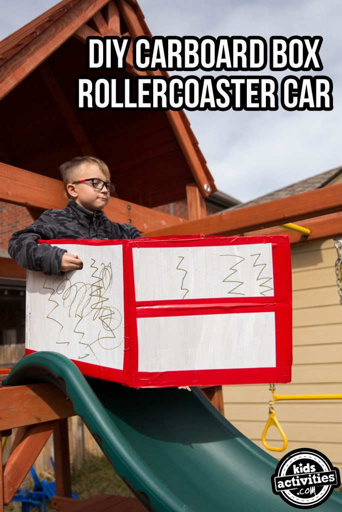 DIY Cardboard Box Rollercoaster Car
