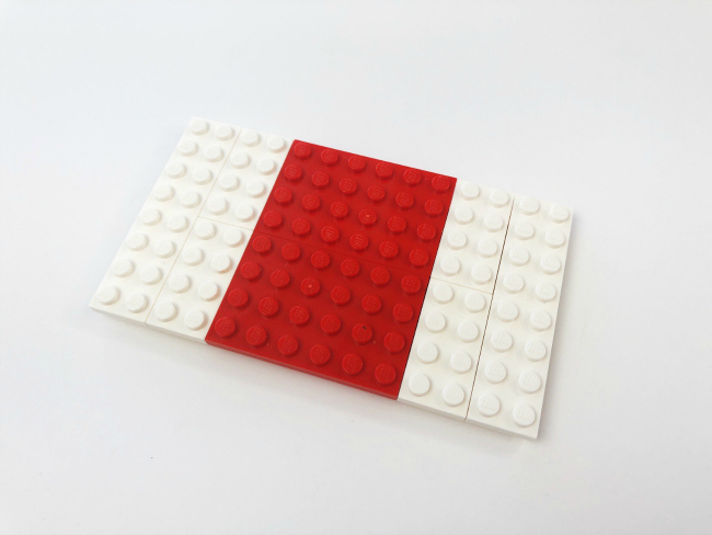 step 2 to build a LEGO Fortnite Medkit