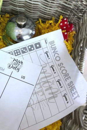 Bunco Party Score Sheets