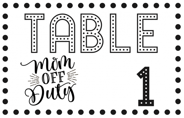 Bunco Table Number Tents - Set of 3