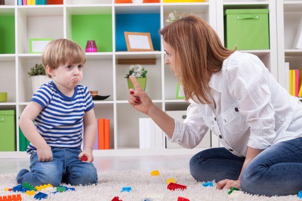 disciplining child