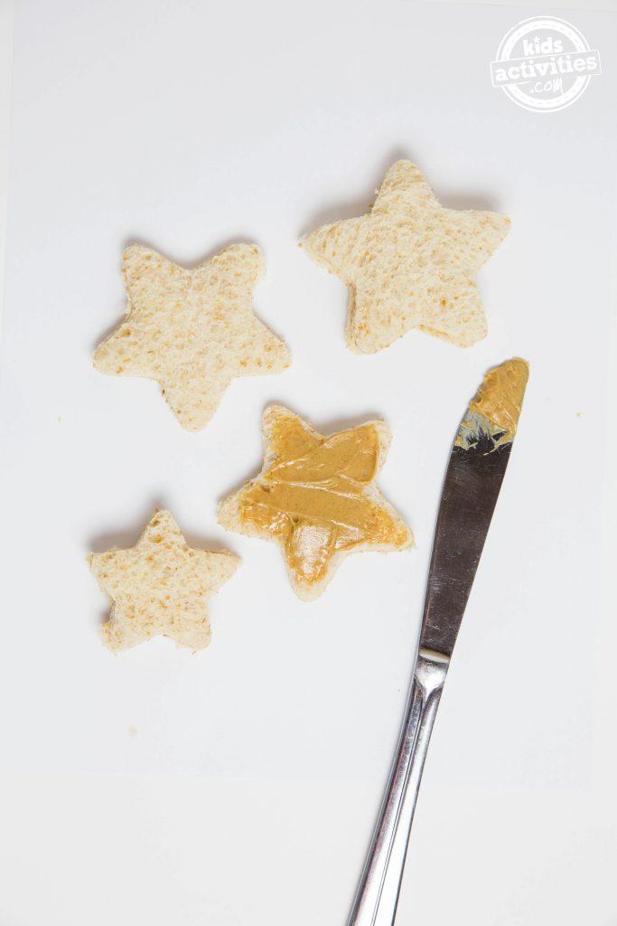 Mini Star Peanut Butter Sandwich