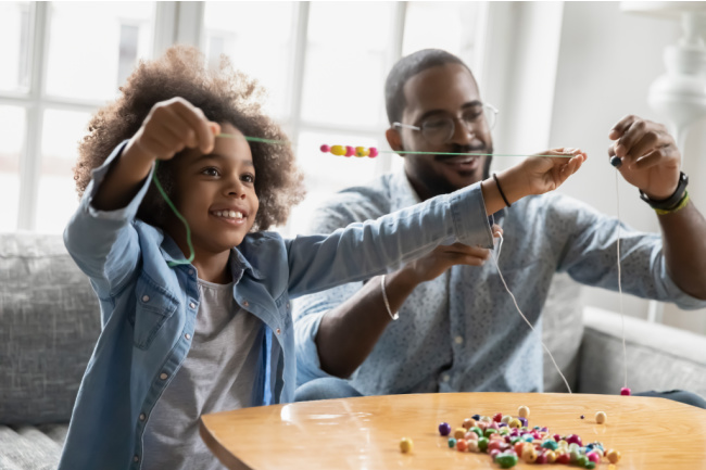 ways for dads to connect with kids - Kids Activities Blog - kid and child doing a craft