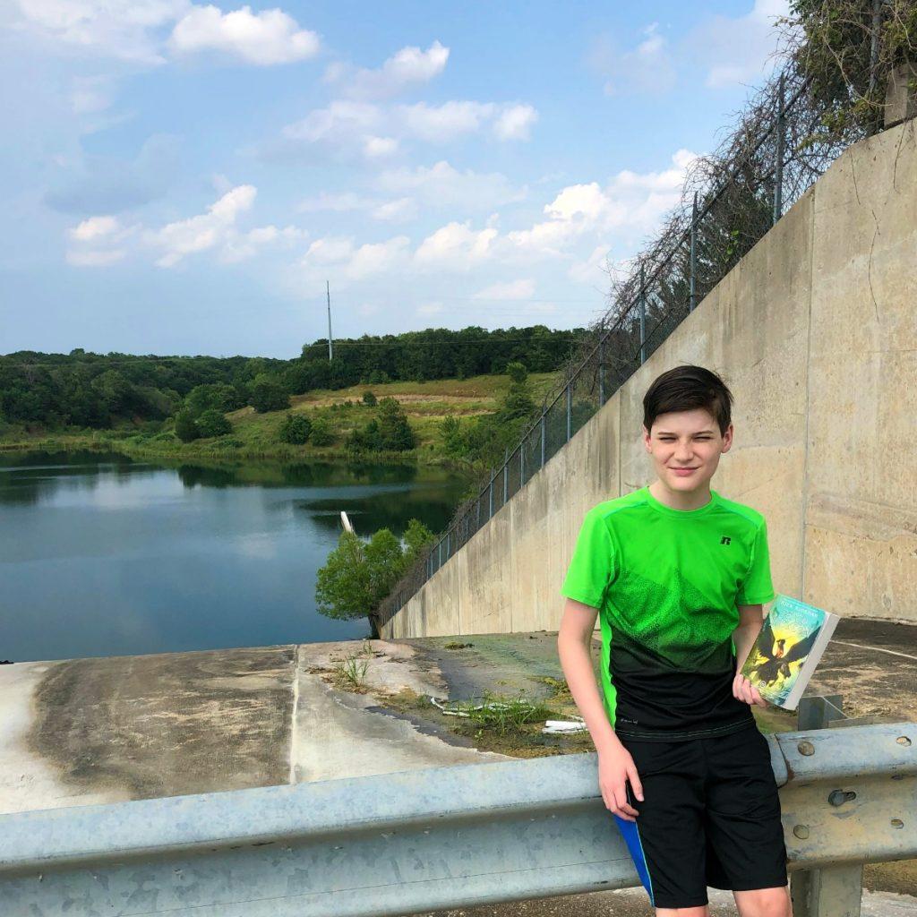 Percy Jackson Lake Grapevine spillway