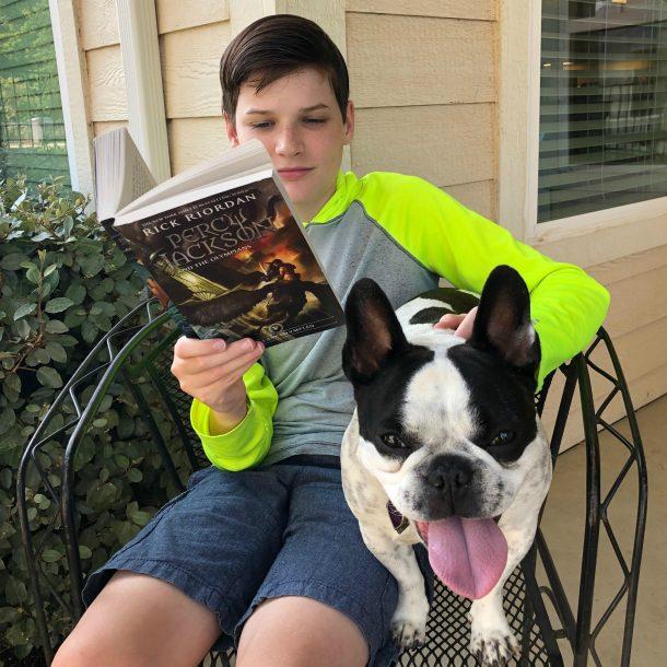 Reading Percy Jackson book 5