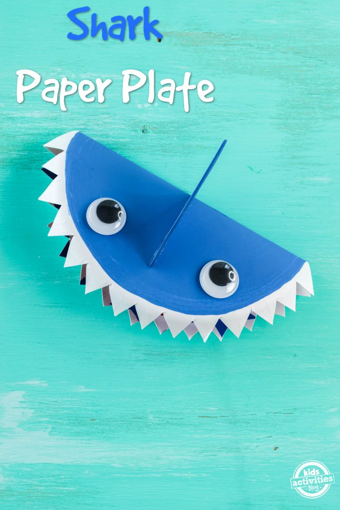 Shark Paper Plate An Easy Shark Week Paper Craft