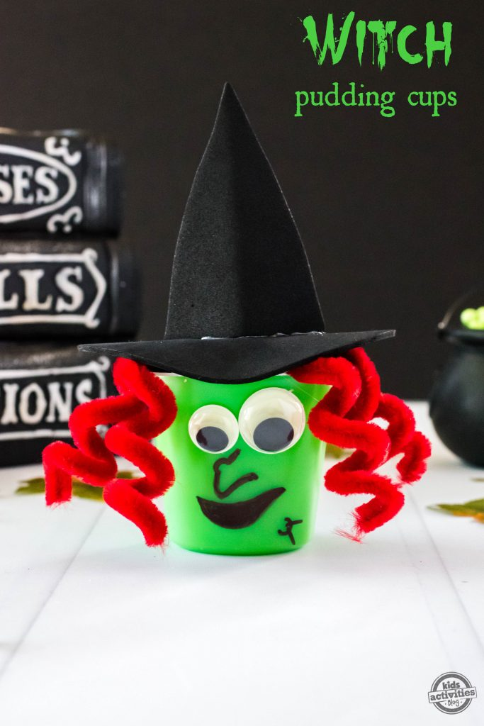 Witch Pudding Cups - Witch Snack Pack with Video Instructions