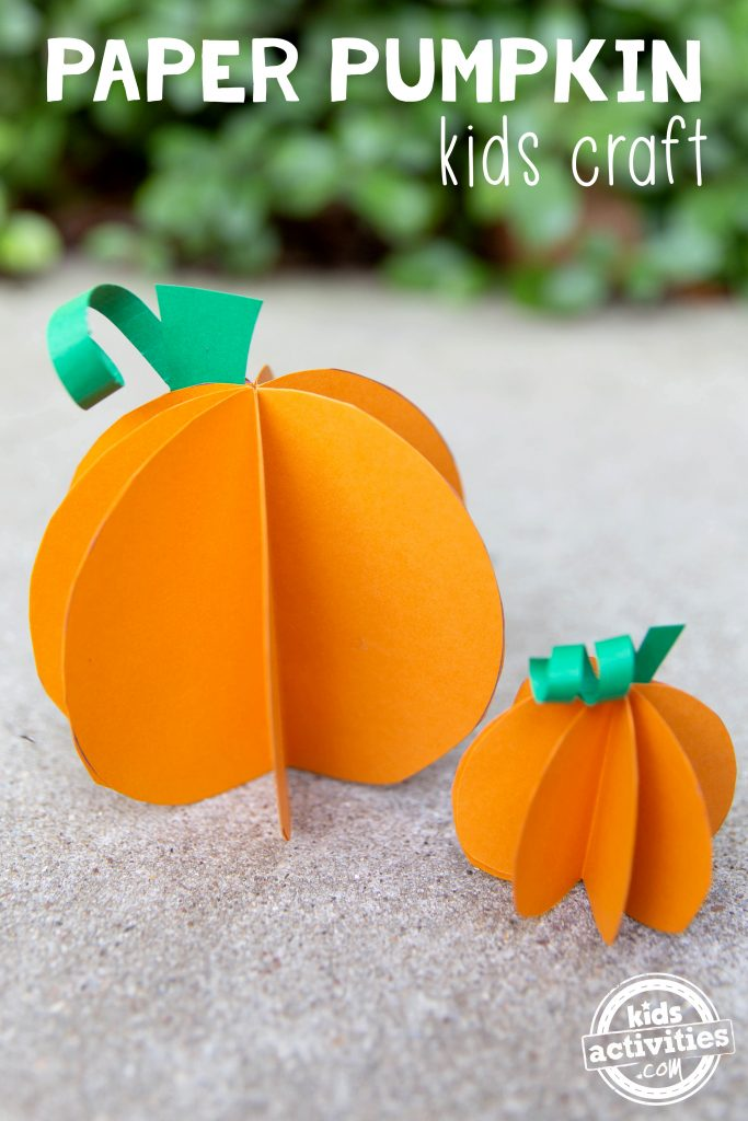 Paper Pumpkin Kids Craft