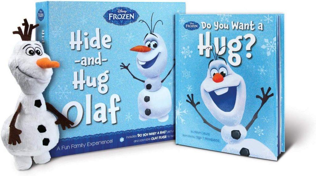 Hide and Hug Olaf est le meilleur jouet de Frozen à ce jour, il est livré avec un câlin et un bonhomme de neige en peluche.