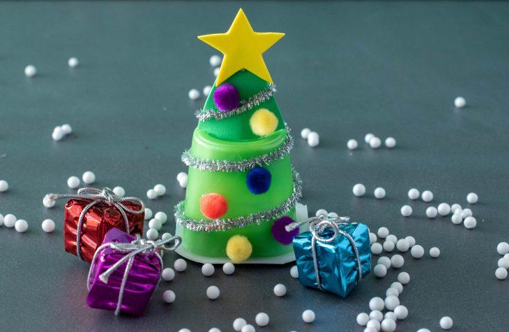 Christmas Tree Pudding Cup