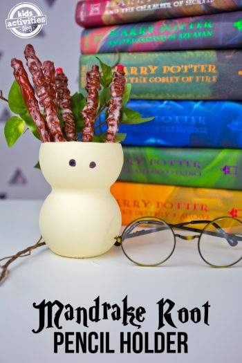 Mandrake Root Pencil Holder Harry Potter Craft
