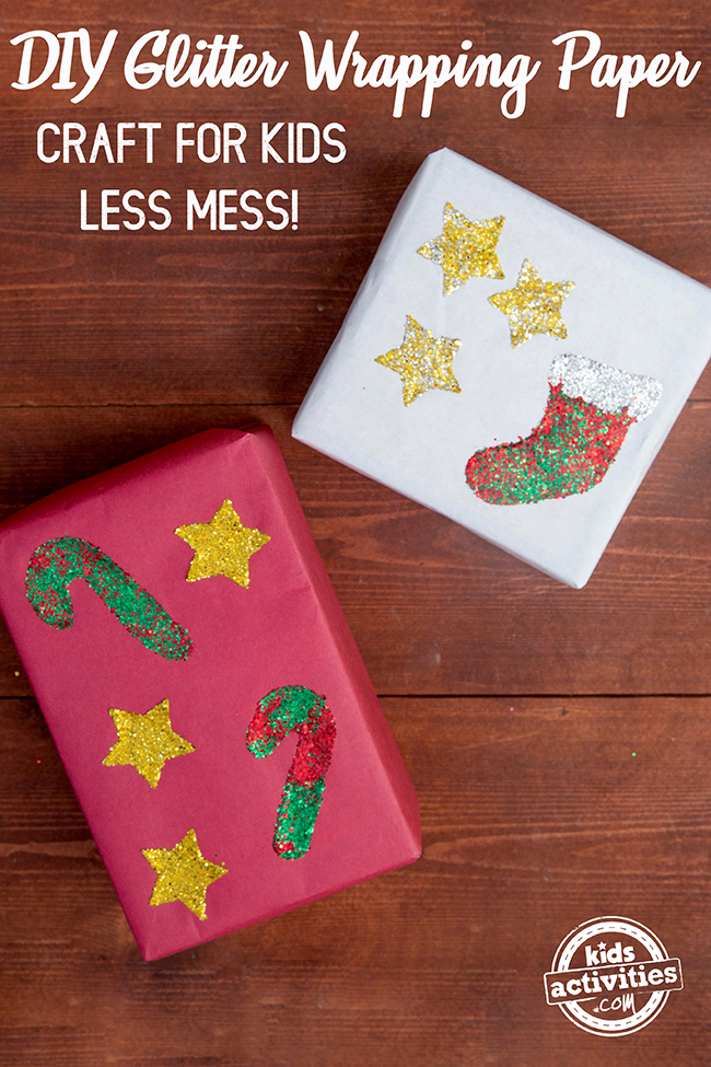 How To Make Glitter Wrapping Paper Less Messy