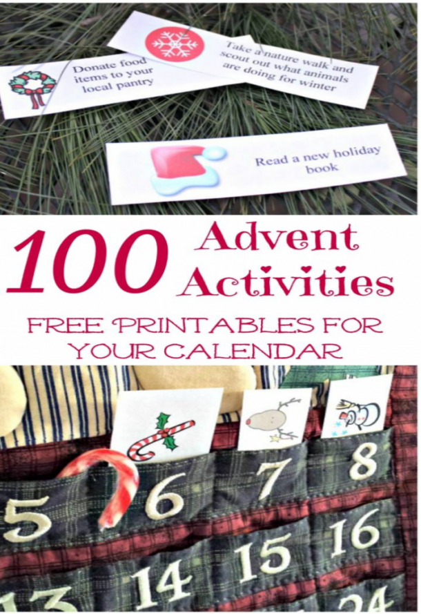 100 advent activities and free printables