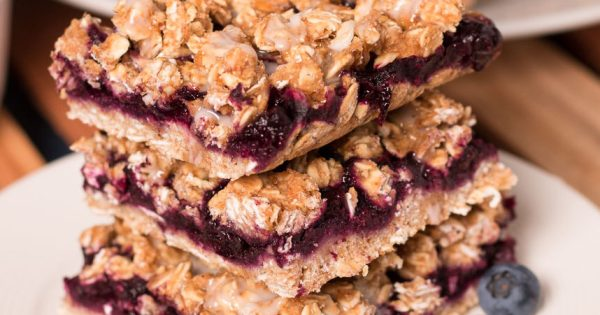 Blueberry Oat Bars