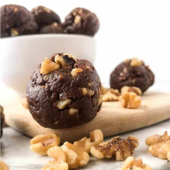 Chocolate Walnut Protein Bites