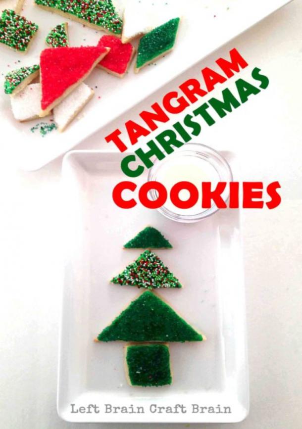 Christmas Tangram Cookies