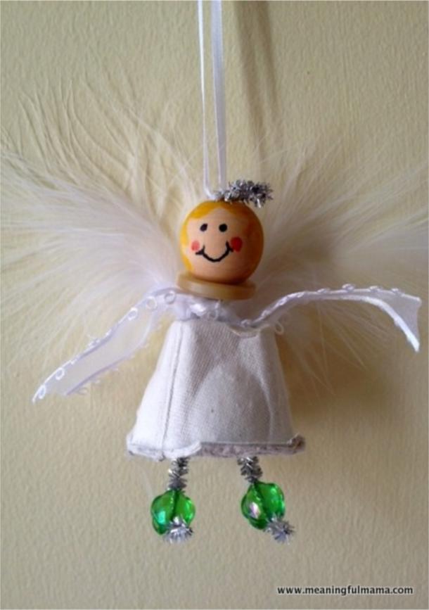Christmas angel egg carton craft