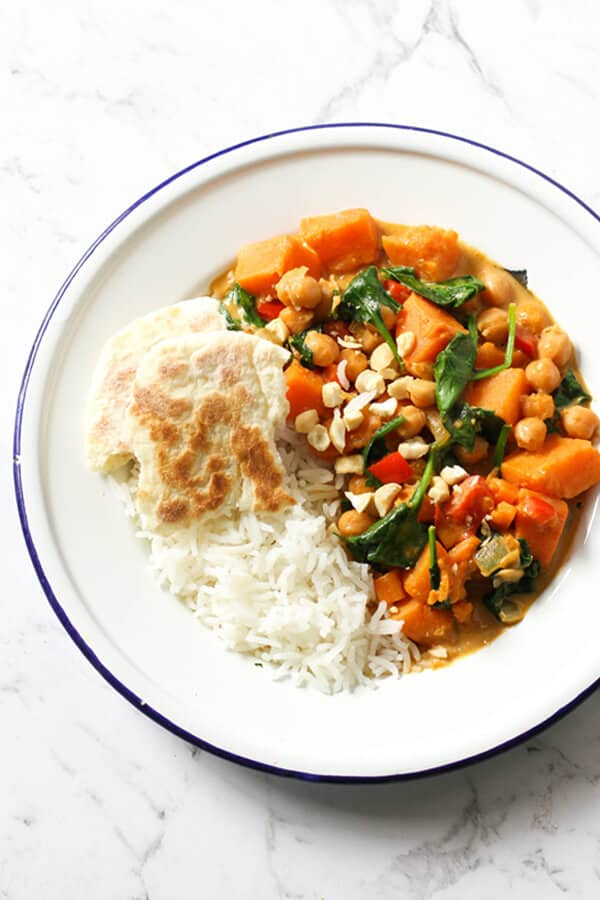 Sweet Potato, Chickpea and Spinach Curry Recipe