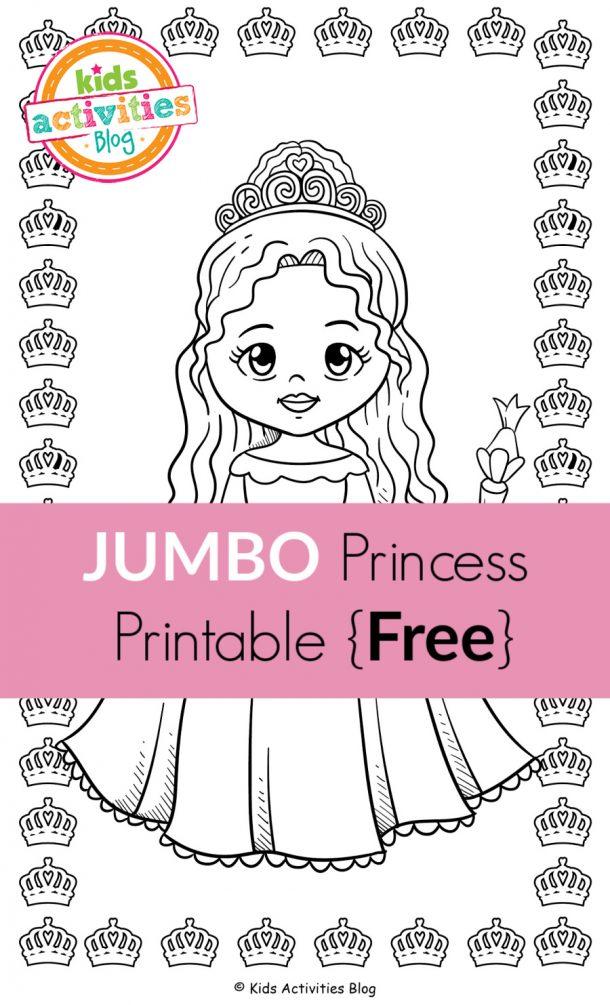 JUMBO Princess Printable {Free}