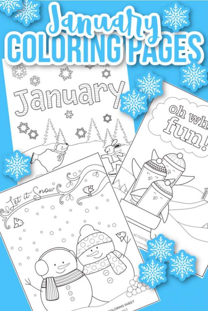 January coloring pages - Kids Activities Blog
