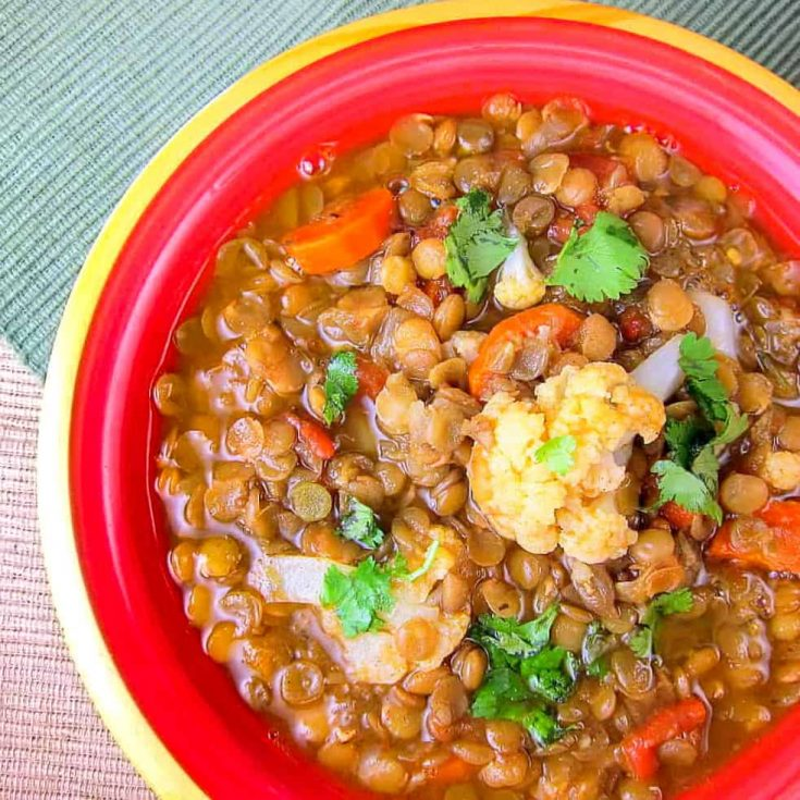 Spiced Moroccan Lentil Soup
