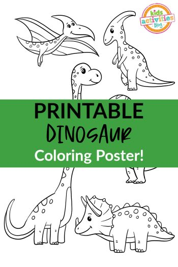 Printable Dinosaur Coloring Poster