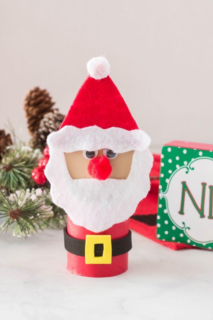 Santa Toilet Paper Roll Craft