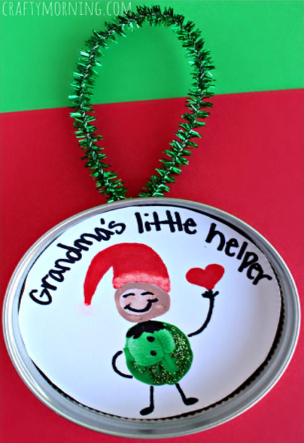 grandma's little help Christmas ornament