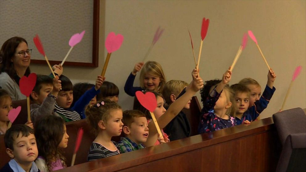 Kindergarten Class Attends Adoption hearing