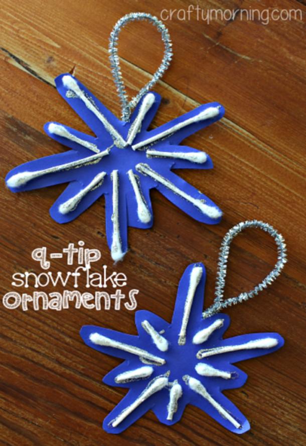 sparkly snow Christmas craft