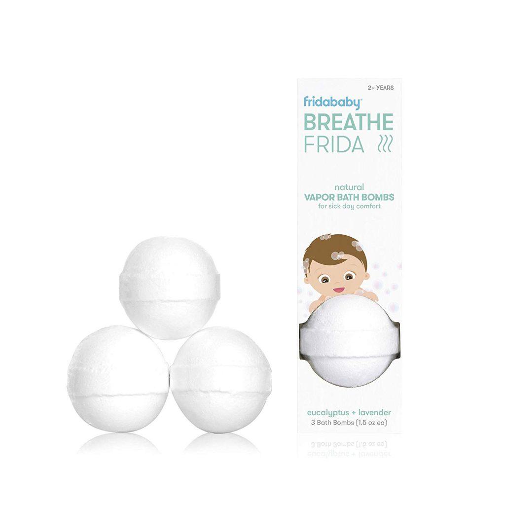 Fridababy Breathe Bath Bombs for Baby - bombes de bain à vapeur naturelles pour le confort des jours de maladie