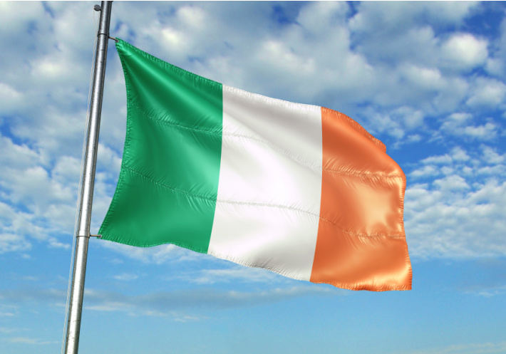 National Flag of Ireland shown flying in the sky - Kids Activities Blog