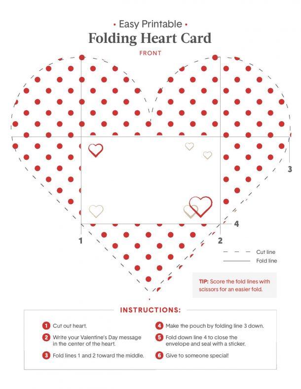 Valentine Heart Origami Card