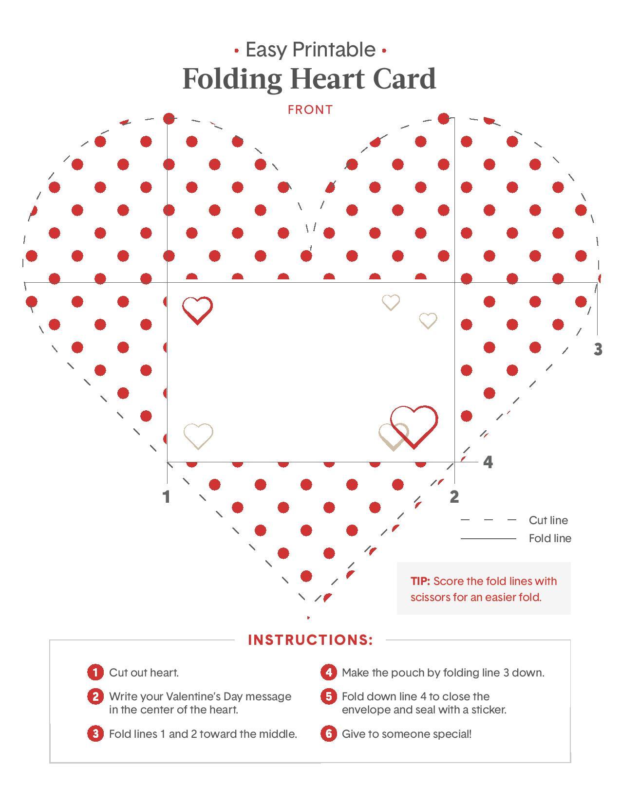 Valentine Card Design Foldable Valentine Card Printable