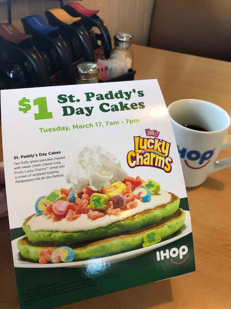 Tuesday Is $1 St. Paddy's Day Pancakes