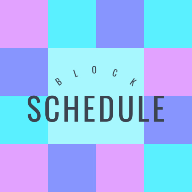 Create a daily block schedule