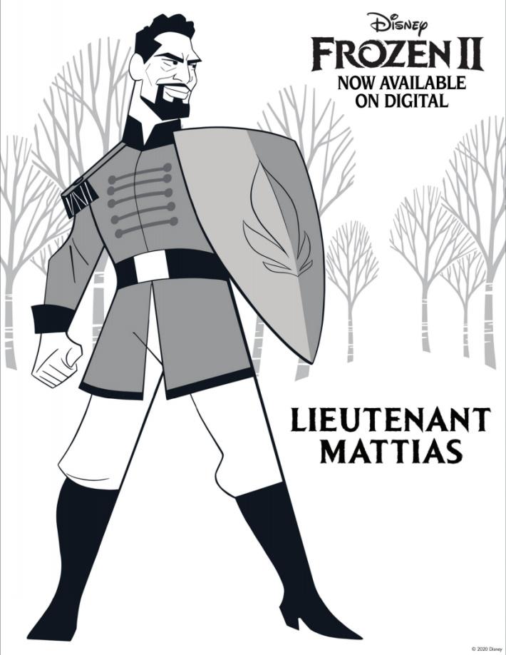 Disney Frozen Coloring Pages - Lieutenant Mattias